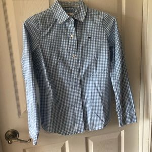 Vineyard vines blue gingham button down
